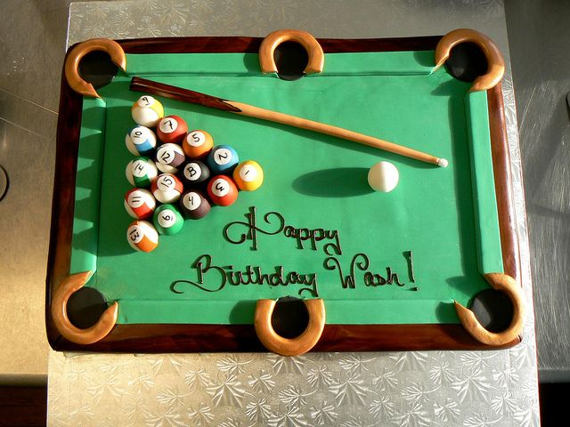 Rack 'em, Pool (Billiards) Table cake by Night Kitchen Bakery, via Flickr