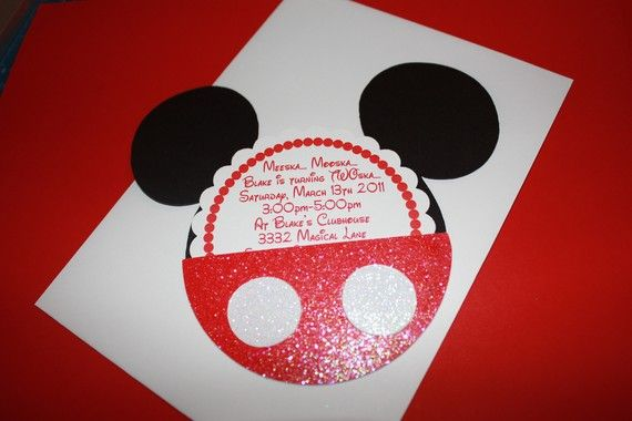 Mickey Mouse Birthday Invitations: Mickey Mouse Birthday, Birthdays, Mouse Invitations, Invitation Ideas, Birthday Invitations, Mickey Mouse Invitation, Party Ideas, Birthday Party
