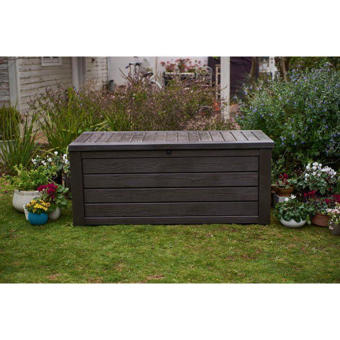 Keter Westwood 150 Gallon Deck Box Brown Deck Box Storage