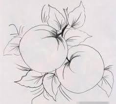 Resultado de imagen para dibujos de flores y frutas para pintar en tela