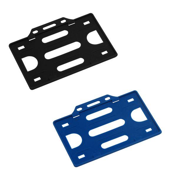 COD.LI022 Porta-Credencial de Plástico Rígido, para Credenciales tamaño Tarjeta de Crédito. Visibilidad por un solo lado. Presentación Horizontal.
