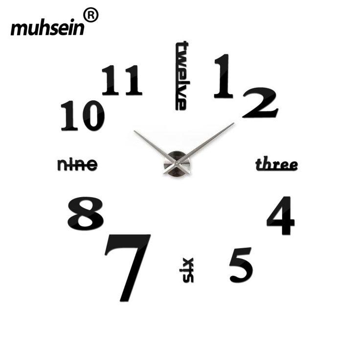 cm x cm super gran reloj de pared diy de acrlico evr