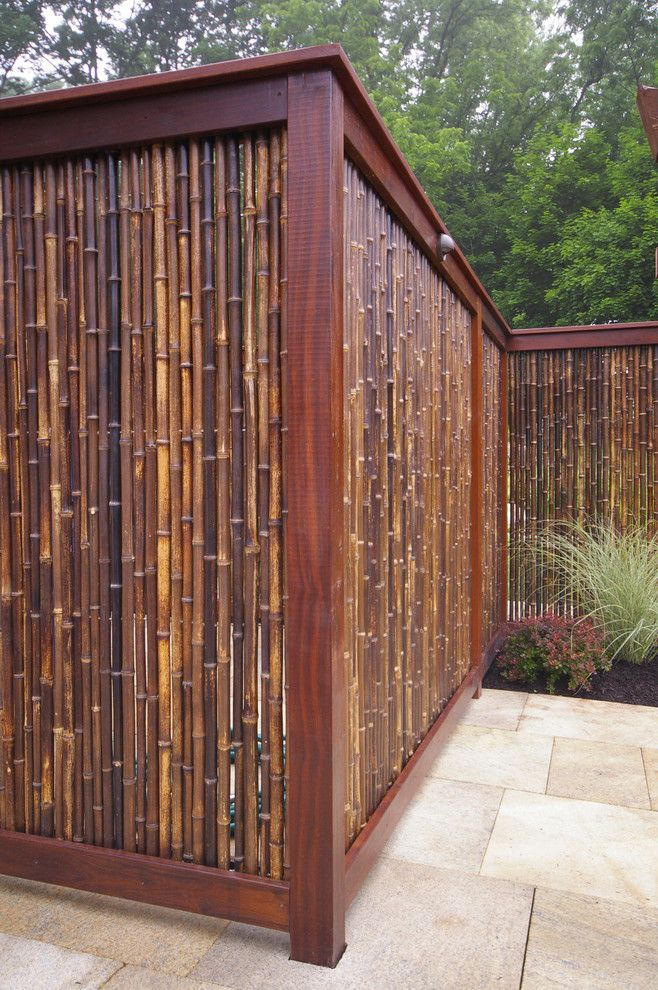 Good Looking Bamboo Fencing In Patio Asian With Asian Style Fence Next To  Bamboo Fence Alongside Fence Panel And Bamboo Walls