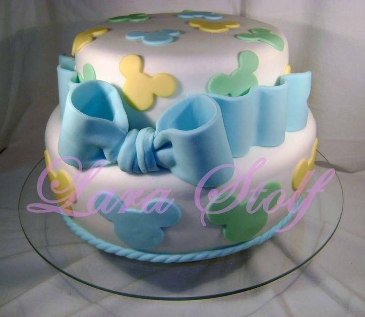 Mickey Mouse Baby Blocks Cake | Lara Stolf Arte em Açucar: Bolo Baby Mickey