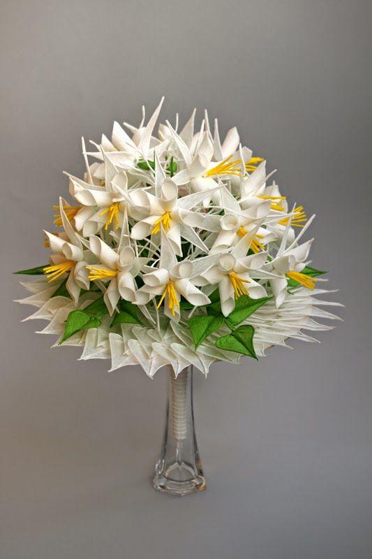 Bibułkowy ogródek Jolenty: Bukiet Ślubny - flowers wedding boqet