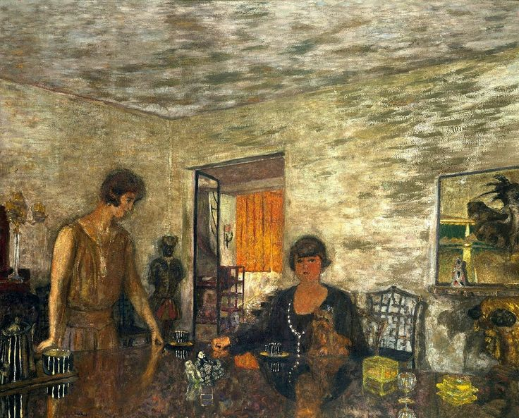 Edouard Vuillard (1868 – 1940), Misia Sert and her Niece Mimi Godebska (The Black Cups),