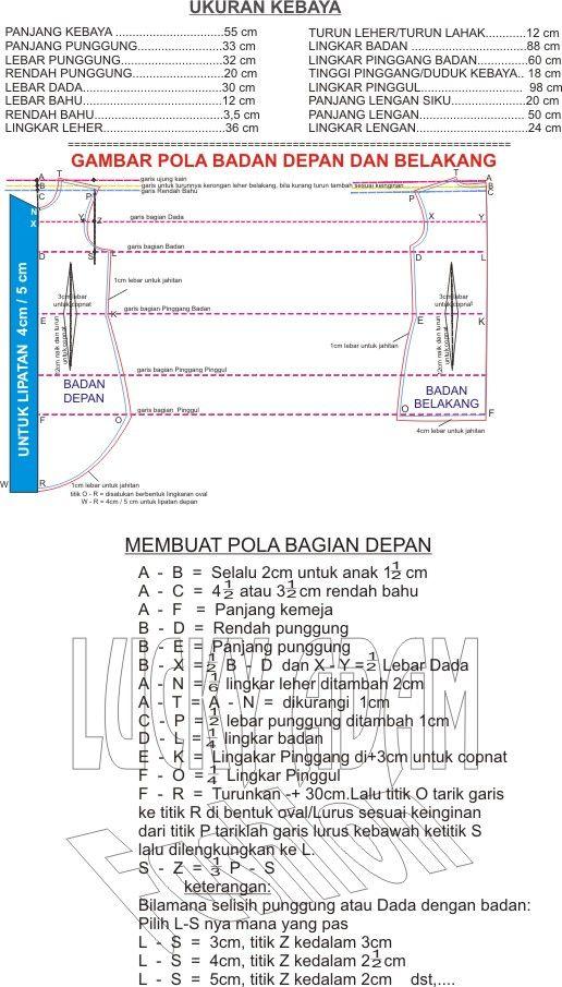 SELAMAT DATANG DI LUCKY ADAM FASHION Salam sukses dan selamat belajar untuk pemahaman teori bagaimana cara mengukur dan membuat ...