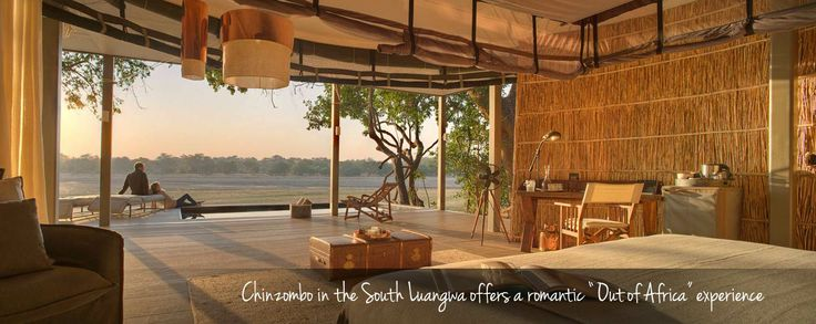 Most Romantic Beds with a View in Africa - gorgeous Chinzombo in the South Luangwa NP, #Zambia. #love #romance #valentinesday #africa #weloveafrica