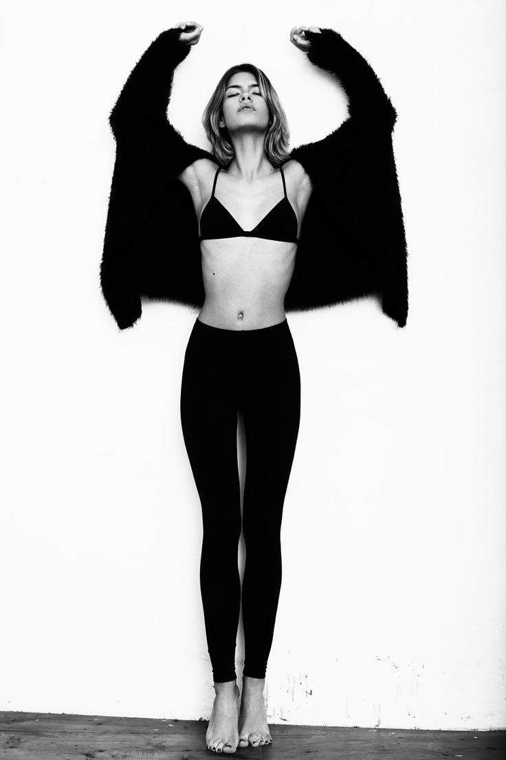 Like a bat. Valerija Sestic @Women Paris posing shot by Ilya Petrusenko
