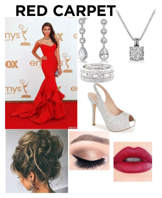 """Red Carpet Ready"" by taylor-elmore-1 ❤ liked on Polyvore featuring Bling Jewelry, Sole Society, David Yurman and Lauren Lorraine"