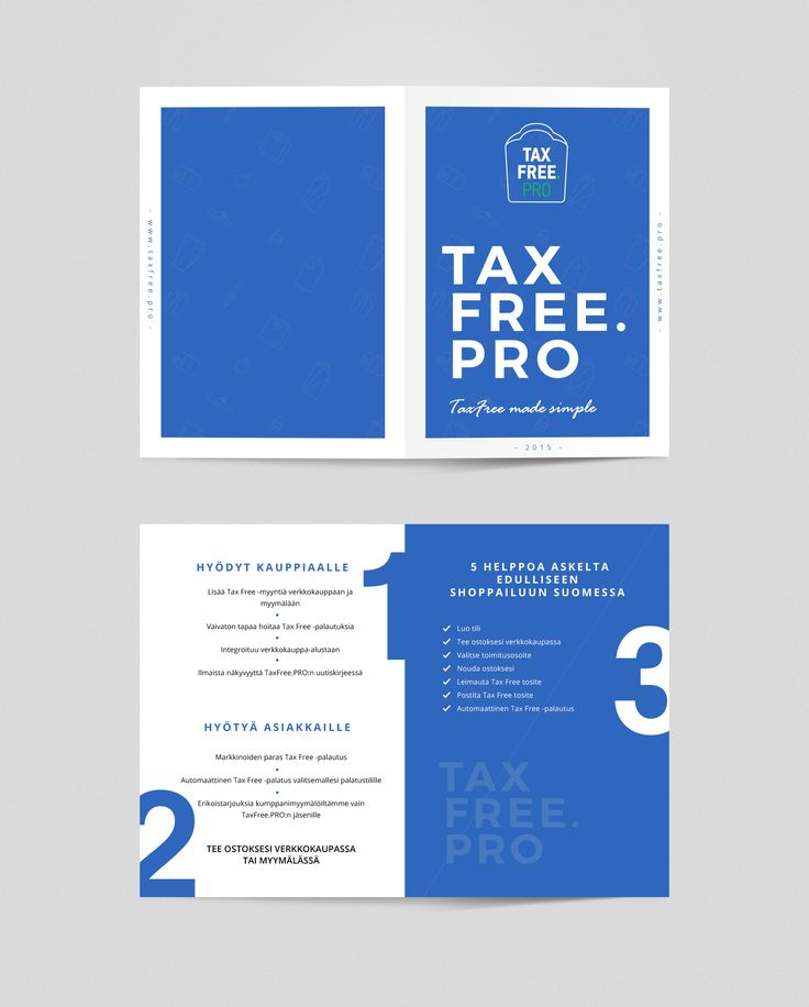 TaxFree.PRO #brochure #finnish #design #print