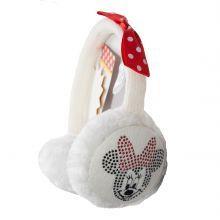 Aparatori urechi Minnie Mouse - alb