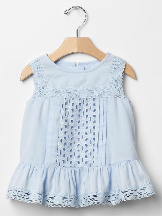 BABY GAP GIRL EYELET PEPLUM TANK TOP NWT 12-18Month M01 #BabyGap…