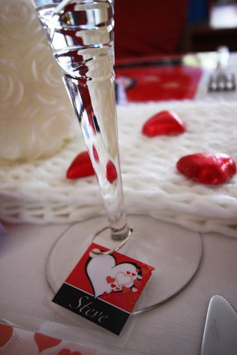 Valentines Day printable PDF's - Wine glass charm
