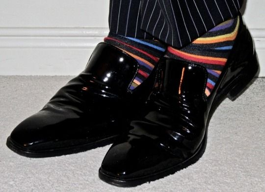 Christian Lacroix navy pinstripe suit, Ron White patent leather loafers… #ChristianLacroix #RonWhiteShoes #Toronto #wiwt #sartorial #sartorialsplendour #sprezzatura #menswear #mensweardaily #menstyle #mensfashion #menshoes #mensuits #mensuitstyle #dandy #dandystyle #dapper #dapperstyle #shoes #style #fashion #suits #meninsuits