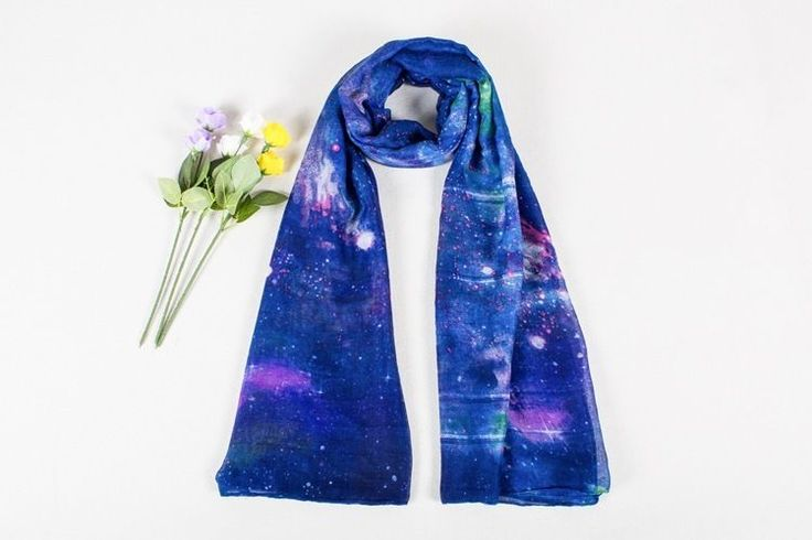New Fashion Extra Long Soft Warm Scarf for Women Galaxy Design Large Shawl Wrap  #Galaxydesign #ShawlWrap