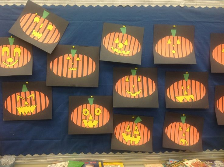 My grade three students cut a circle into strips then glued the strips about 1cm apart.  Fun Halloween craft!