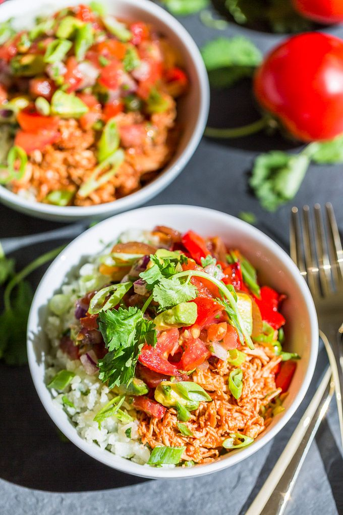 Chipotle Chicken Taco Bowls   Get Inspired Everyday!