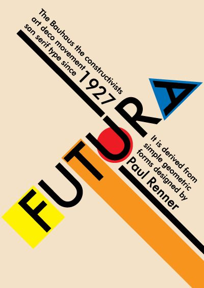 In typography, Futura is a geometric sans-serif typeface designed in 1927 by Paul Renner