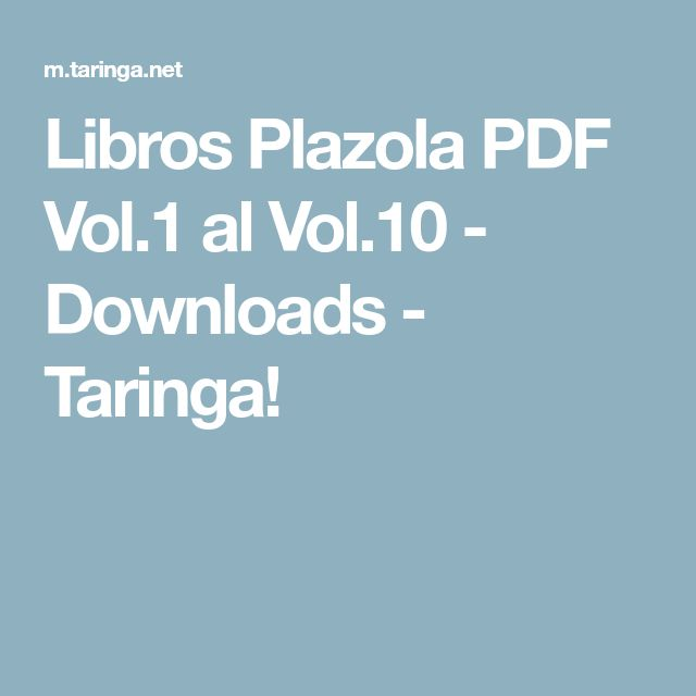 Libros Plazola PDF Vol.1 al Vol.10 - Downloads - Taringa!