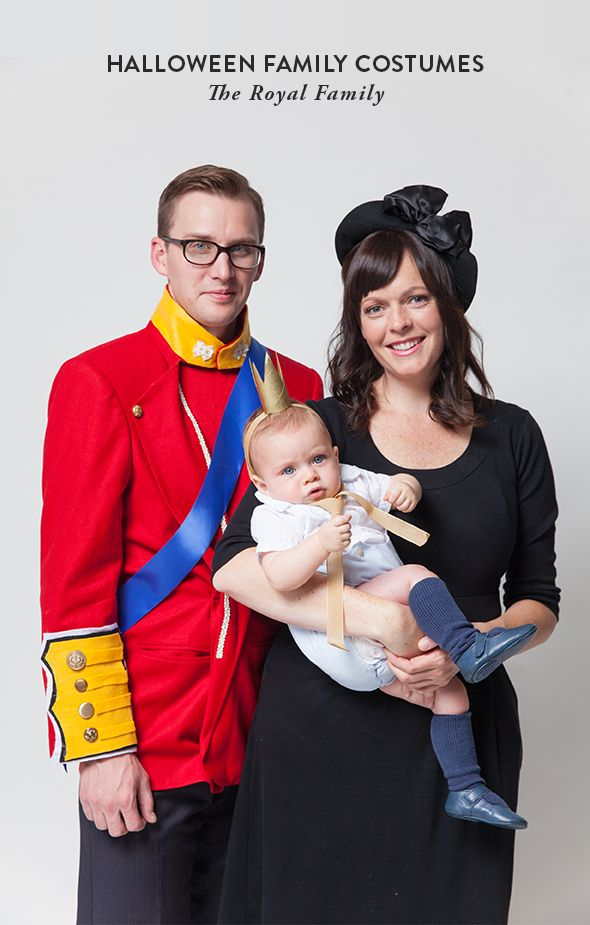 Another family of three costume idea for you today: Will,Kate and baby Prince George! I love this one because it would be such a cinch to pull together and very current. Brushen up on your English...