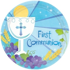 First Communion Available in Blue and Pink!