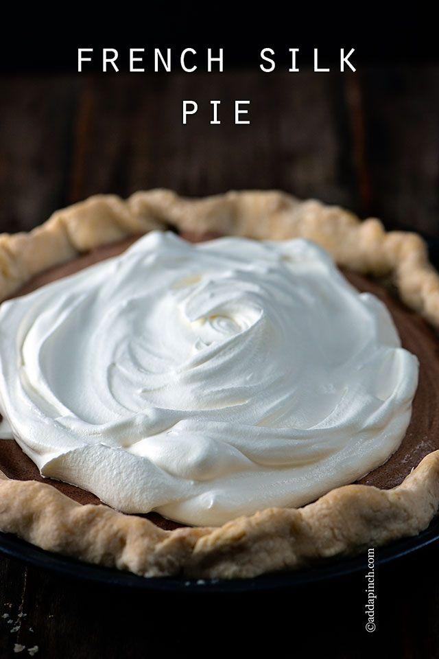 Egg free French Silk Pie Recipe from addapinch.com