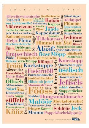 Wörter Poster