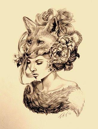 Fox Woman Tattoo | April Alayne