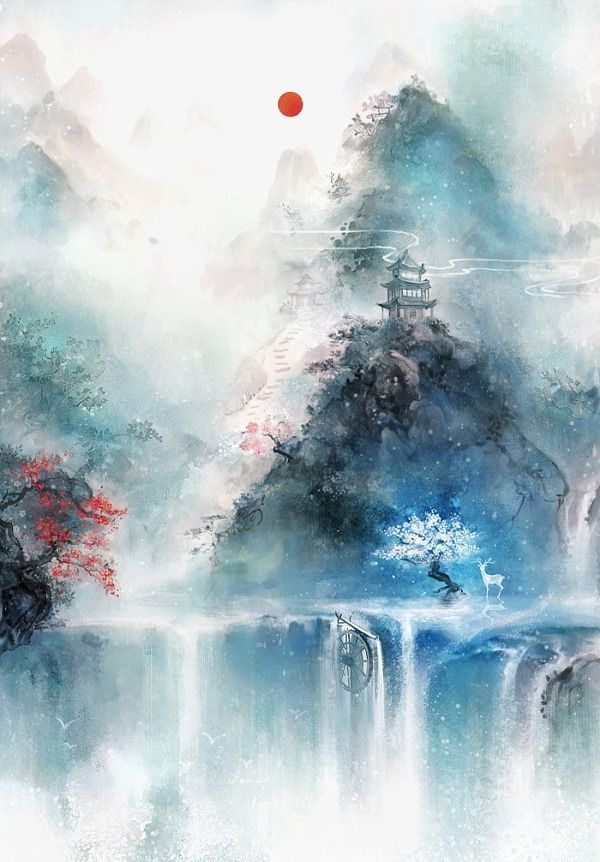 Chinese style,Color ink,Watercolor,flowers,Bird fleas,Ancient Wind,landscape,Trounced,Poetic,Beautiful,Antiquity objects,Antique Flowers,Wenrenmoke,Antiquity watercolor
