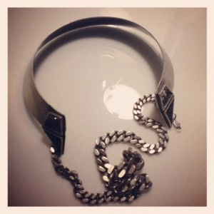 Lady Grey necklace, purchased from Elizabeth Charles NYC during #NYFW