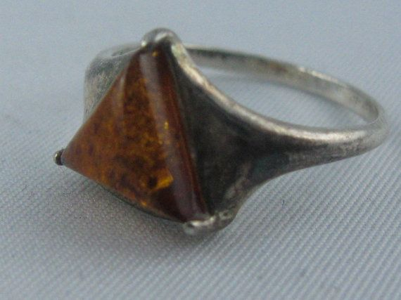 Amber ring. Sterling silver 925 Ag. VINTAGE by ideenreichBerlin, €10.00