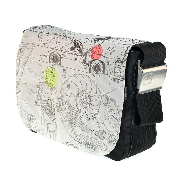 canvasco   green fashion messenger bag sailing ocean urban fashion recyceld sailcloth canvas sail bag