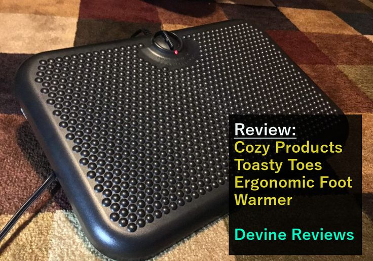Do you suffer from cold feet? Here is my solution: http://devinereviews.com/cozy-products-toasty-toes-foot-warmer/