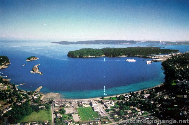Nanaimo BC & Newcastle Island. Gabriola Island in the distance.