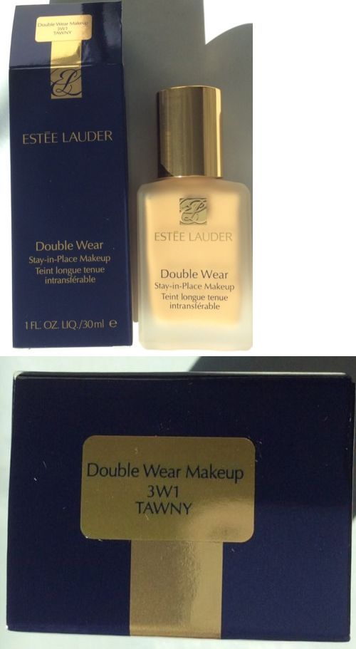 Foundation: Estée Lauder Double Wear Stay-In-Place Makeup Foundation Shade 3W1 Tawny -> BUY IT NOW ONLY: $35 on eBay!