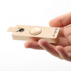 LED Light Alloy USB Cigar Lighter Hand Spinner Finger Gyro