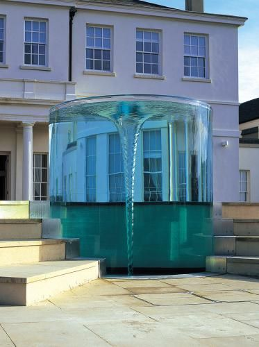 In a foray into more artistic industries, RPT worked with artist William Pye with two of his designs in the creation of unique water features. Inside the tube is a vortex of spinning water, designed to imitate the punishment the Greek god Zeus inflicted upon Charybdis, one of the Sirens, for stealing oxen from Hercules.
