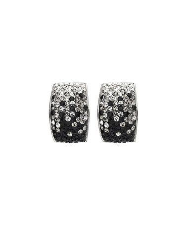 brilliance jayden star Black & White Gradient Huggie Earrings With Swarovski® Crystals #zulily #zulilyfinds