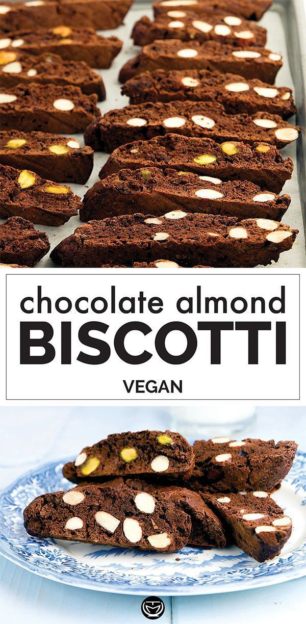 Chocolate Almond Biscotti Vegan
