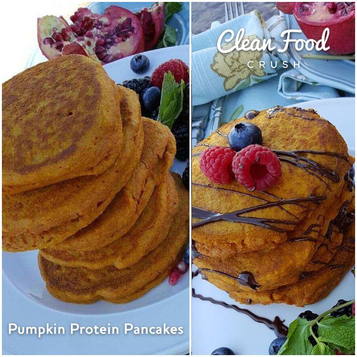 best pumpkin protein pancakes recipe http://cleanfoodcrush.com/best-pumpkin-protein-pancakes/