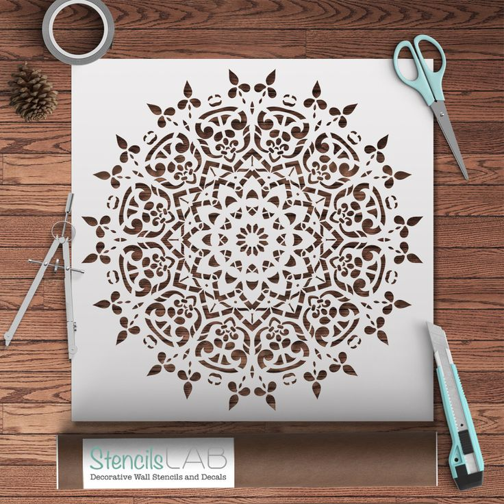 Use our new ROUND SYMMETRICAL MANDALA STENCIL to decorate the interior of your home! Due to its versatility, Mandala Stencil is suitable for almost any room and interior - classical as well as modern