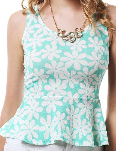 Casual Floral Tops MINT