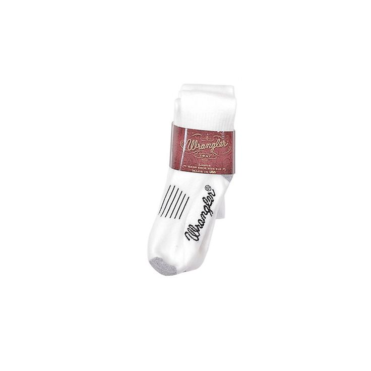 Wrangler Men's Wellington Boot Sock - 2 Pair (Size: Large) White