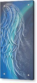 Angel Wings Acrylic Print featuring the painting Angel Wing by Reina Cottier