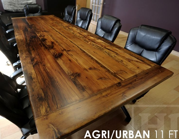 Reclaimed Wood Boardroom Table Ontario Barn Wood
