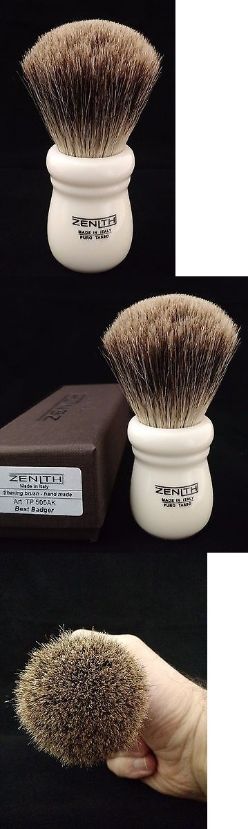 Shaving Brushes and Mugs: Zenith Ivory Best Badger Brush. Xl 28Mm. Made In Italy. Compare To Razorock. T5 BUY IT NOW ONLY: $48.0
