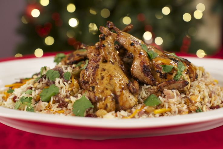 55 best jeni barnetts 12 chefs of christmas images on pinterest reza mahammads marinated spatchcock quails on jewelled rice christmas recipesricefood network forumfinder Gallery