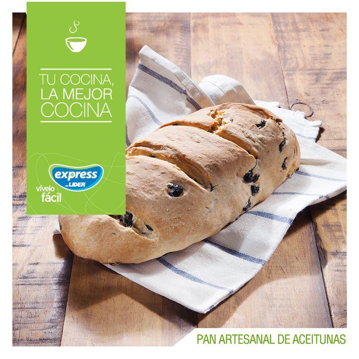 Pan artesanal de aceitunas 🍞 #Receta #Recetario #ExpressdeLider #Pan #Aceitunas