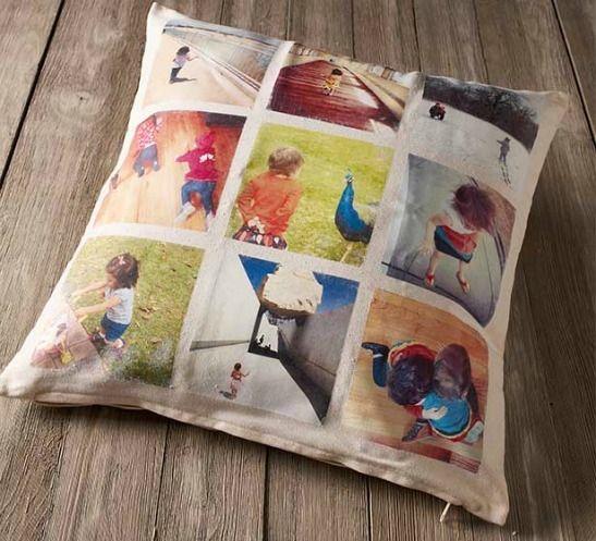 4 DIY Instagram Photo Transfer Ideas: Decorative Pillow: